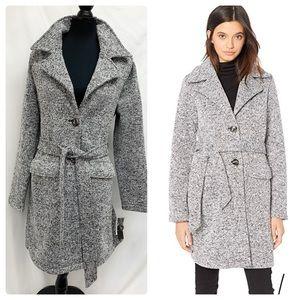 Steve Madden Sweater Fleece Wrap Trench Coat